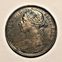 1884 Great Britain Penny, Queen Victoria, KM# 755, High Grade  #2657
