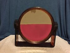 Cosmetic Mirror Mid Century Modern Lucite Standing Magnifying Double Sided Vtg