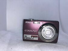 Nikon Coolpix S220 10MP Digital Camera 3x Optical Zoom 2.5 inch LCD Plum