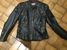 DIANESE  LEATHER JACKET(VINTAGE 1983) BLACK SIZE 50