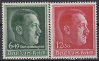 Nazi Germany 3rd Reich 2 Rare Hitler Stamps  Superb MNH!!