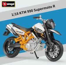 Bburago 1:18 KTM 990 Supermoto R Motorcycle Bike Model Toy New