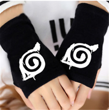 Japan Anime NARUTO Sharingan Cosplay Knitted Fingerless Warmer Gloves #7