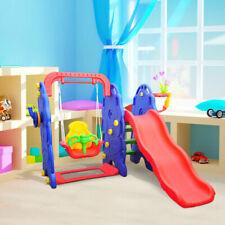 Homcom 54-0019 Columpio con Tobogán y Canasta de Baloncesto para Niños 3 Años