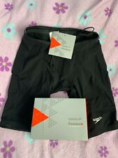 NWT Speedo Fastskin LZR Racer Elite Jammer Men 28 Black Tech Suit Fina Approved
