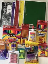 School Supplies Bundle Crayons Markers Pencils Pens Notebooks And More