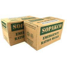 2 Cases of Mres 14 Mea 00006000 ls Each, Emergency Food Rations, Sopakco Reduced Sodium