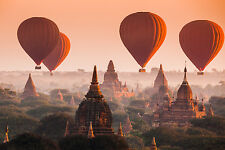 STUNNING BUDDHIST TEMPLES SUNSET CANVAS PICTURE #249 SPIRITUAL WALL HANGING ART