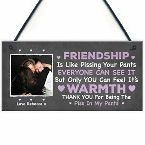 Friendship Gift For Women PERSONALISED Image Plaque Birthday Christmas Gift