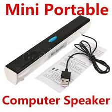 USB POWERED MULTIMEDIA SPEAKER FOR COMPUTER LAPTOP TABLET DVD MP3 PLAYER