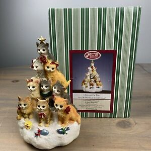 San Francisco Music Box Company Christmas Cat Tree We Wish You A Merry Christmas