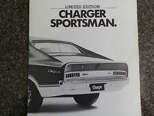 CHRYSLER VALIANT CHARGER 1974 VJ ''SPORTSMAN'' SALES BROCHURE. 100% GUARANTEE.