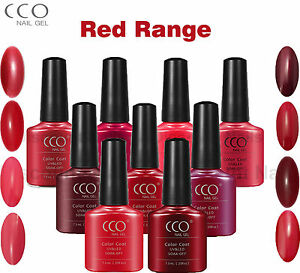 CCO RED RANGE UV LED NAIL GEL POLISH VARNISH NAILS SOAK OFF FREE P&P