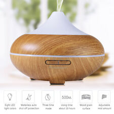 500ML Aroma Diffuser Ultraschall Luftbefeuchter Cool Mist Aromatherapie LED