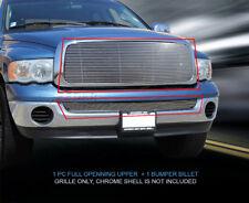 02-05 Dodge Ram Full Openning Billet Grille Grill Combo Insert 2 Pcs Fedar