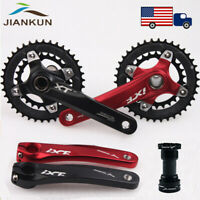 10 Speed Double Crankset BB 104bcd MTB Bicycle Sprocket Crank 26/38T Chainring