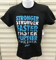 """Asics """"Stronger Faster Further"""" Cotton Short Sleeve Shirts, FREE SHIPPING!"""