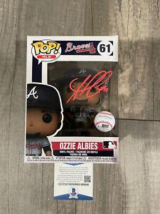 Ozzie Albies Atlanta Braves Signed Auto Autograph Funko POP BAS Beckett COA