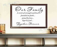 Unframed Quotes Family Together Forever Poster Canvas Print Decor high quality