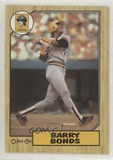 1987 O-Pee-Chee Barry Bonds #320 Rookie