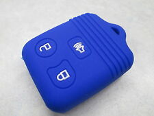 Key Skinz Blue Silicone Various Ford 3 Button Early Square Remote Cover FOR3S