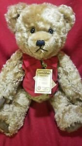 "HERMANN Original Teddy Bear with Growler & Original Tags LE 15"" vest tie D 96112"