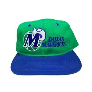 Vtg Rare NBA Dallas Mavericks Two Tone G Cap Grossman Snapback Hat Cap