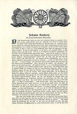 Moritz Necker Johann Nestroy Zu seinem hundertsten Geburtstag Wiener Theater1901