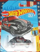 2018 Hot Wheels Checkmate 8-9 Black Pawn VW Beetle Diecast 4+ Malaysia