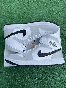 Nike Air Jordan 1 Mid Smoke Grey Size 9 Womens 7.5 Men Black White BQ6472-015
