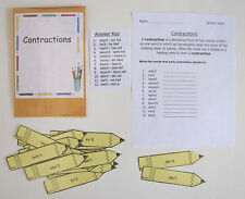 Teacher Made Literacy Center Learning Resource Game Contractions