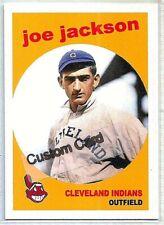 SHOELESS JOE JACKSON CLEVELAND INDIANS 1959 STYLE CUSTOM MADE BASEBALL CARD