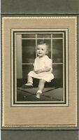 Antique Studio Photo in Folder - ROSENDAHL Family Little Girl (Phyllis) 13 Mo