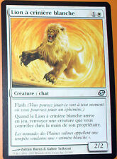 LION A CRINIERE BLANCHE - CREATURE CHAT -  VF CARTE MTG MAGIC