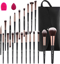 ZLXIN Make up Brushes Set 23 Pcs Premium Synthetic Kabuki Foundation Face Powder