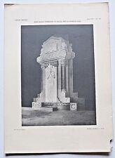Architettura Stampa Angelo Albertini Monumento funerario Zani L'Edilizia Moderna
