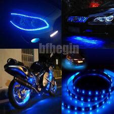 8x New 30cm 15 SMD 3528 LED Flexible Strip Blue Light Car Lamp Waterproof 12V CA