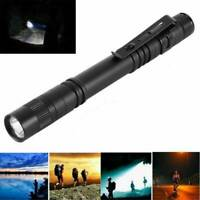 Tactical Flashlight LED Pocket Pen Light - Mini Torch Stylus PenLight w/Clip NEW