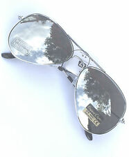 AIR FORCE Aviator Retro MIRRORED Silver Sunglasses Anti-Glare UV400 Classic