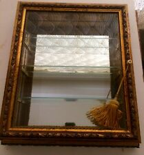 Creazioni Artistiche Wood & Glass Wall Display Curio Cabinet/Shadow Box Italy