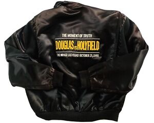 "HOLYFIELD vs DOUGLAS VTG 1990 ""The Moment of Truth"" Vegas BOXING Jacket Rare!"