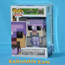 Minecraft - Steve with Enchanted Armor Pop! Vinyl Figure (RS)