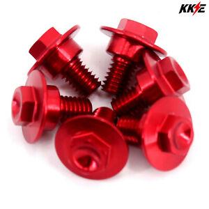 KKE Red Billet Fork Guard Bolts Screw For HONDA CRF250R CRF450R CRF250X CRF450X
