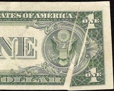 1935 E $1 BILL MULTIPLE GUTTER FOLD ERROR MAJOR 7615G