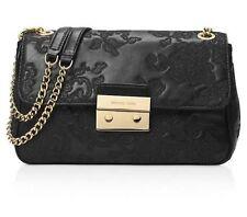 NWT in PLASTIC $398 Michael Kors Sloan Large Lace Chain Shoulder Bag Black