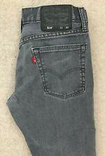 Levis 514 Slim Straight Denim Jeans Mens W31 L30 Dark Grey Red Tab