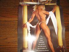 FLEX bodybuilding magazine/Nasser El Sonbaty/Mary Yockey poster 12-98