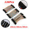 120Pcs Male Female Dupont wire cables jumpers 10/20/30cm 2.54MM 1P For Arduino