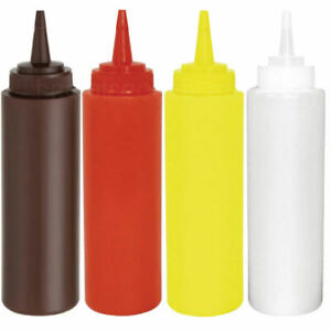 8oz Squeeze Sauce Bottle - Condiment Dispenser Mayo Ketchup Mustard Brown Sauce