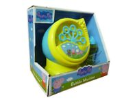 Peppa Pig Toy Bubble Machine & Solution Summer Outdoor Fun TOY NEW BOXED